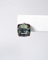 La Vie Parisienne Post Earrings Marine Green Crystal