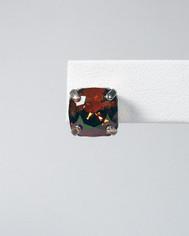 La Vie Parisienne Post Earrings Smoky Brown Crystal