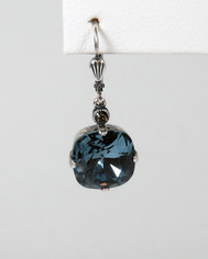 La Vie Parisienne Large Earrings Midnight Blue Crystal