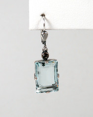 La Vie Parisienne Drop Earings Ice Blue Crystal