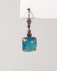 La Vie Parisienne Small Drop Earring Bright Blue Crystal