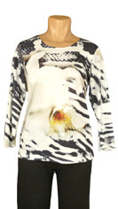 Orchid and Zebra Print Top by Impulse