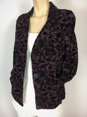 Color Me Cotton CMC Tapestry Jacket in Eggplant CLEARANCE