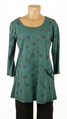 CMC Color Me Cotton Rosie Tunic Sea Green