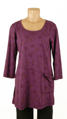 CMC Color Me Cotton Rosie Print Tunic Purple Last One Small