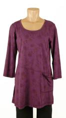 CMC Color Me Cotton Rosie Print Tunic Purple Last One Small