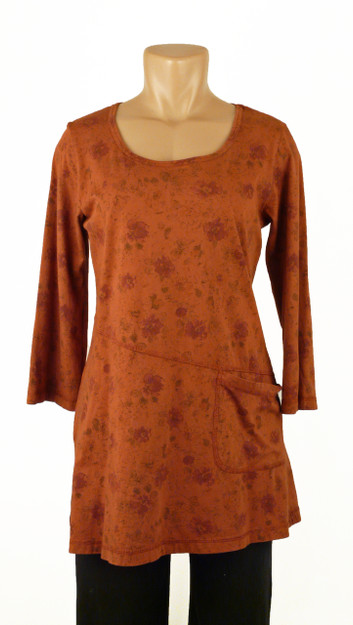 Color Me Cotton Rosie Tunic In Rusty 63 00
