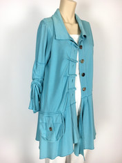 Color Me Cotton CMC Alissa Coat St. Bart's Blue in Medium