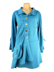 Color Me Cotton CMC Alissa Coat Blue Waters