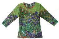 Van Gogh's  Iris   Art Image Top