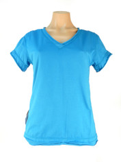 Blue Bliss Neon Buddha Nirvana V Neck Top