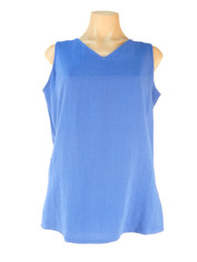 Fridaze Linen Sleeveless Top Royal Blue