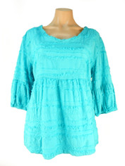 Cotton Sally Top in Turquoise by Tianello