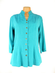 Tencel Joycie Blouse in Turquoise Blue by Tianello