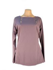 Color Me Cotton CMC Laurie Top Deep Charcoal Grey