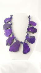 Purple Freeform Slabs Necklace