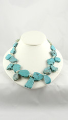 Freeform Turquoise Nuggets Necklace