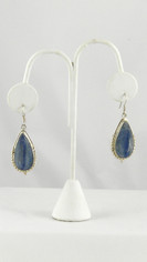 Exceptional Blue Kyanite Large Teardrop Earrings