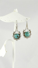 Pretty Turquoise & Silver Earrings