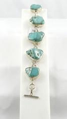 Turquoise Blue Sterling Bracelet