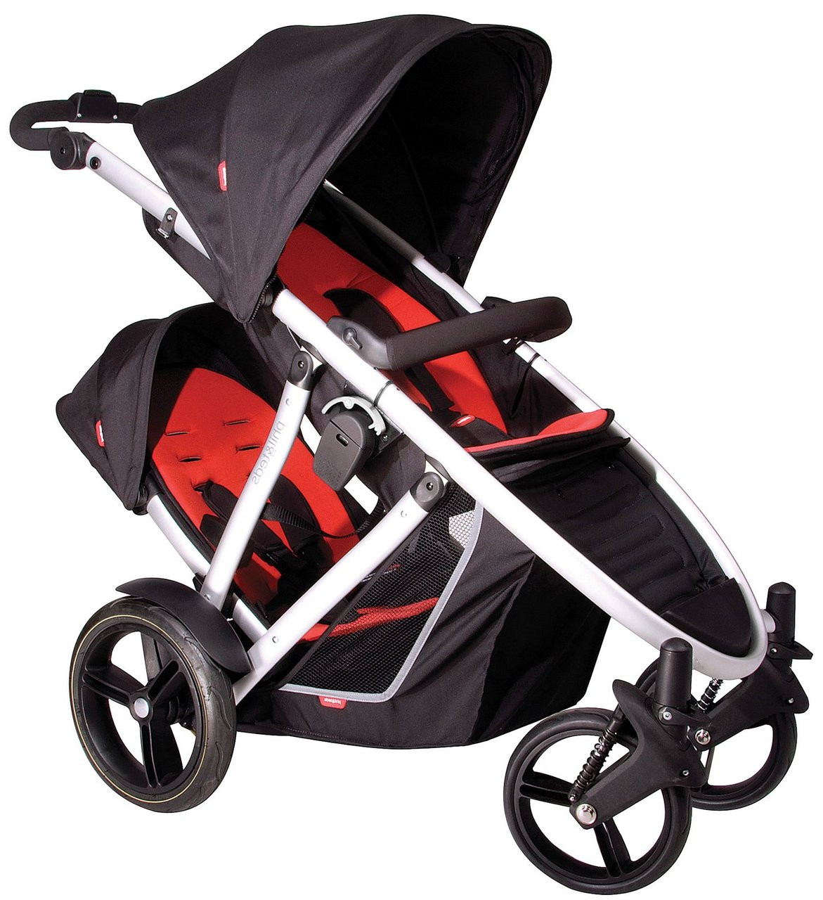 Phil Teds Verve Double Inline Buggy Stroller Red Brand New In Box