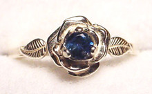 Montana sapphire rose ring 3.25mm