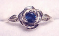 Montana Yogo Sapphire Rose Ring 3.25mm
