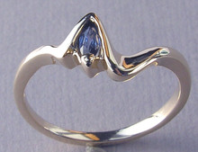 Montana Yogo Sapphire Marquise Solitaire Ring