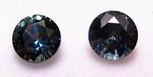 Montana Sapphire Round Brilliant Matched Pair set of Cut Stones