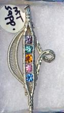Montana Sapphire Wire Wrapped Pendant