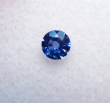 #27- Montana Yogo Sapphire Round .22 ct 3.72mm