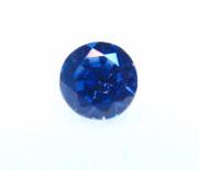 #28- Montana Yogo Sapphire Round .20 ct 3.25mm