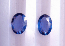 Montana Yogo Sapphire Loose Stones Oval pair of two .47 ct
