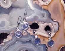Montana Yogo Sapphire Locket Earrings Sterling Silver