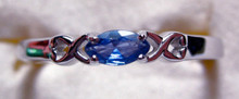 Montana Yogo Sapphire Marquise X East West Ring Sterling Silver