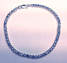 Montana Yogo Sapphire Sterling Silver Round Bracelet 3.14 cts