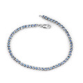 Montana Yogo Sapphire Sterling Silver Round Bracelet 2.11 cts