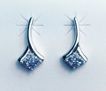 Montana Yogo Sapphire 4 Stone Post Earrings Sterling Silver