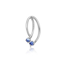 Montana Yogo Sapphire 2 Stone Pendant Sterling Silver comes with chain.