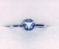 Montana Yogo Sapphire 3 Stone Marquise in Circle Ring Sterling Silver