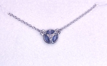 Montana Yogo Sapphire Marquise in Circle Necklace Sterling Silver