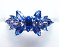 Montana Yogo Sapphire Butterfly Ring .95ct 18KW