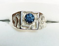 Montana Sapphire 6 Prong Men's Nugget Ring 5mm