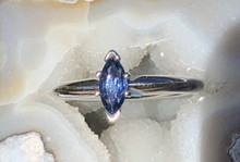 Montana Yogo Sapphire Solitaire Marquise Ring 14K
