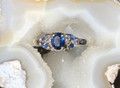 Montana Yogo Sapphire Oval with Four Marquise Ring 14KW