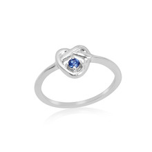 Montana Yogo Sapphire 2.3mm Love Knot Sterling Silver Ring