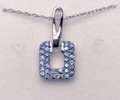 Montana Yogo Sapphire Door Knocker Pendant Sterling Silver