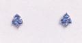 Montana Yogo Sapphire & Diamond Tree Earrings 14K White Gold