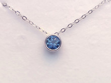 Montana Sapphire Round Bezel Pendant