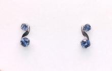 Montana Sapphire 2 Stone S Earrings